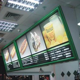 Wholesale Fast Food LED Menu Board Advertising Light Box Store Advertising Display and China Wholeasles Advertising Product for Beer Sign