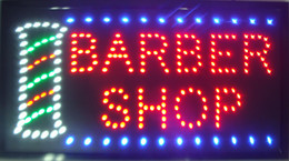 Wholesale 2016 Ultra Bright LED Neon Sign BARBER SHOP Light Animated Neon Signs Led neon sign billboard size x13