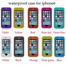 Redpepper Red pepper Waterproof Shockproof Case For iphone 6 4.7 inch Retail Package 20pcs