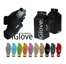 IGlove Screen Touch Gloves Capacitive Gloves With Retail Package Unisex Winter for Iphone 6 6S Plus 5S Smart Phone Touch ipad DHL