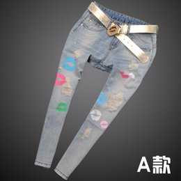 Wholesale The Newest European And American Womens Looose Jeans Explosion Models Summer Thin Section Loose Big Yards Nine Hole