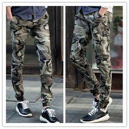 New Arrival Camouflage Joggers for Men Skinny Joggers Cargo Jogging Pants Harem Pants Men Camo Bandana Joggers harlem pants size M-XXL