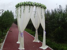 Wholesale White Color Diameter m Height m Wedding Decoration Custom made Color Round Canopy Chuppha Arbor Fabric Drape