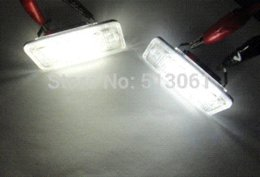 Wholesale Xenon White Error Free LED License Plate Lights Lamps For Audi A3 A4 A6 S6 A8 Q7 B6 B7 Rapid air parcel sent
