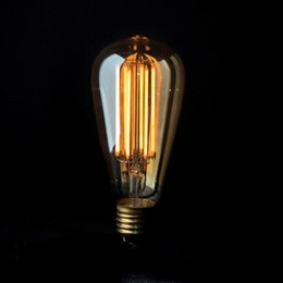 Wholesale Vintage LED Filament Light Bulb W W K Edison Golden ST19 ST64 Style Certified by UL Dimmable