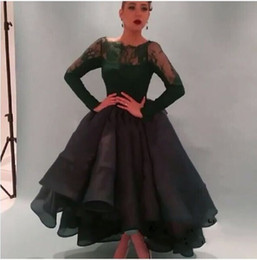 Wholesale 2015 Best Selling Dark Green Prom Dress Lace Long Sleeves Ball Gowns Puffy Princess Elegant Formal Evening dress for Saudi Arabian