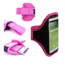"""Wholesale-Pink Running Sport Armband Jogging GYM Skin Case Cover for Mobile Cell Phone Samsung Galaxy Note 5 N9200 5.7"""""""