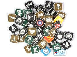 Wholesale New PVC armband cm velcro morale patches patch military armband Velcro badges outdoor United nations luminous at night