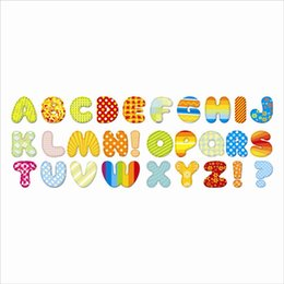Wholesale English Letters Wall Sticker Room Decoration DIY Papel De Parede Infantil Cartoon Cozinha Adesivo De Parede