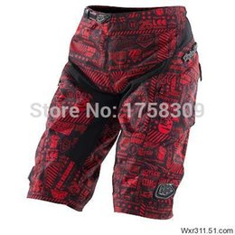 Wholesale-High Quality with Pad!2015 Moto Shorts Solid The red Bicycle Cycling Shorts MTB BMX DOWNHILL Mountain biking Red Short Pants