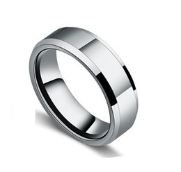 Wholesale Classic Mens womens Affordable mm wide Rings L stainless steel wedding bands lovers jewelry cheap price full USA SIZE
