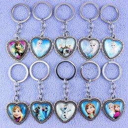 Wholesale 2015 newest children gift cartoon accessories Frozen keyrings Elsa Anna Olaf Styles keychains children key chain