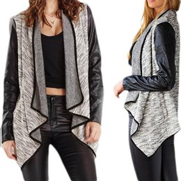 w1025 Best-seller Women Irregular Hem Long Sleeve Cardigan Blouse Tops 51023
