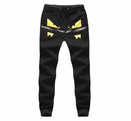 Wholesale-Male Little Monster pattern Hip Hop Harem sport Pants Men's skinny Joggers Pantalones Hombre casual sweatpants trousers,Size