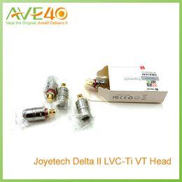 Wholesale Joyetech Delta LVC Atomizer Head for Delta Atomizer Liquid Valve Control ohm resistance Ni TiVS Subtank Mini Subtank Nano Occ