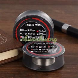 Wholesale Best Titanium Wire Resistance Feet TA1 AWG g g g g Gauge Coils For Vaporizer Temp Control TC Vape mods