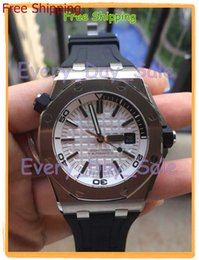 Wholesale Luxury brand ap AP Royal Oak Offshore Diver White Dial ST OO A002CA Men Men s watch watches