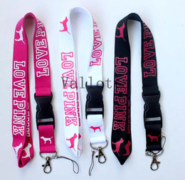 Wholesale Of x VS Love Pink Lanyards Detachable Keychain Badge ID Cell Holder