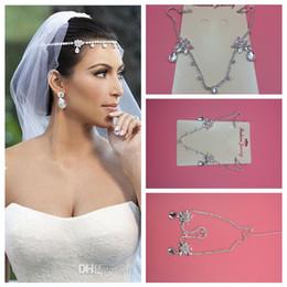 Cheap Tiaras & Hair Bridal Accessories Wedding Headpiece In Stock Water Shape Crystals Wedding Hair Headpieces Tiaras & Silver Headpiece
