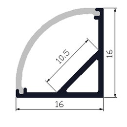 Wholesale-2meters aluminium profile 30pcs lot led aluminium profile for 10mm PCB board led bar light