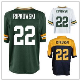 Wholesale Factory Outlet Men s Aaron Ripkowski Jersey Elite Green White Throwback Blue Stitched Name And Number