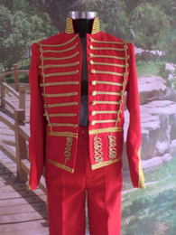 prince red general mens period costume Medieval suit stage performance  Prince charming fairy William  civil war Colonial Belle stage