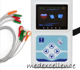 Wholesale new CE FDA channel ECG Holter System Recorder Monitor Free PC SOFTWARE