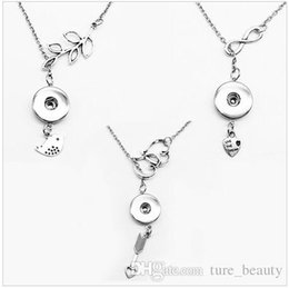 SALE! 925 sterling silver NEW Fashion noosa snap button jewelry pendant Necklace OEM, length 50cm (fit 18mm 20mm snaps)drop shipping 50pcs