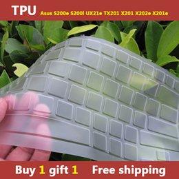 Wholesale-TPU Laptops Keyboard cover skin protector for asus S200e S200l UX21e TX201 X201 X202e X201e