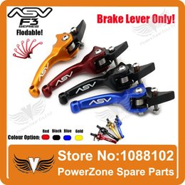 Wholesale Alloy ASV F3 st Short Brake Folding Lever Only Racing Motorcycle Pit Dirt Bike IRBIS KAYO GPX Pit Pro Modify order lt no trac