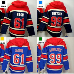 2016, Cheap 61 Rick Nash 99 Wayne Gretzky New York Rangers Hoodie Old Time Hockey Jersey Hoodie Sweatshirt