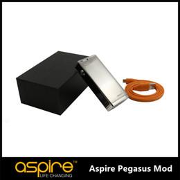 Wholesale IN STOCK Aspire Pegasus TC Mod Variable Wottage Battery Temperature Controll Mod For Aspire Triton E Cig BOX MOD Free DHL
