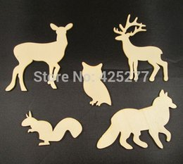 Wholesale Deal sets Lovely Animal Wood Chips Fashion Christmas Party Home Decoration DIY Veneer Scrapbooking Crafts