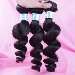 Indian Malaysian Peruvian Brazilian Virgin Hair Loose Wave Curly 8A Unprocessed Human Hair Weave Bundles Natural Black Remy Hair Extensions