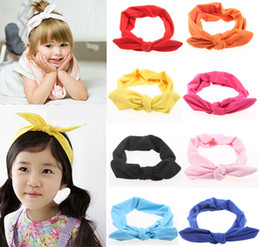 Girls Bow Headband Bunny Bow Knot Hairband Vintage Butterfly Girl Mom Parents Tie Hairband Baby New Head Wear kiki headband