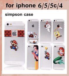 Promotion cas transparents pour iphone 4s pour l'iphone 7 7plus 6s Homer Simpson Belle 3D de Frost Cartoon Transparent Cases Housse Etui TPU pour iPhone 4 4S 5 5S 5C SCA009