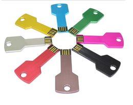 Wholesale 10PCS New Metal High Quality Key Design real capacity GB GB GB GB GB GB GB USB Flash Memory Pen Drive Stick Thumb