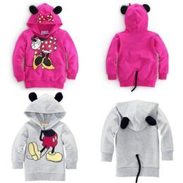 Capas superiores del traje en venta-Bebés de los muchachos de los niños de Mickey Mouse Minnie Sudaderas 3D Tops sudaderas Escudo Trajes del traje de deporte Prendas