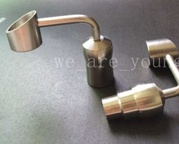 Wholesale 90 degree Honey Bucket Titanium Nail mm mm female or male joint for Water Pipe Glass Bong Smoking