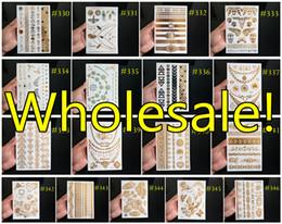 Wholesale Flash Tattoos DHL ARAMEX EMS Temporary Tattoo Metallic Jewelry Tattoos Bracelet Tattoos pieces