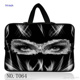 "Wholesale Laptop Cases Thinkpad - Black Cool Girl Laptop Soft Sleeve Bag Case Pouch For 14"" 14.1"" 14.5"" Acer Dell Hp Sony Thinkpad"