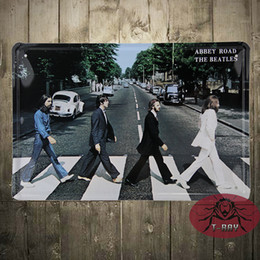 Wholesale ABBEY ROAD THE BEATLES picture plaque Garage wall decor