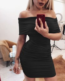 Autumn winter 2017 hot style one word led the women's dress sexy backless cultivate one's morality