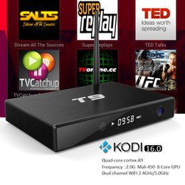 Wholesale T9 Amlogic S812 Quad Core Android TV Box M8 M10 Plus MXQ Streaming Boxes GB GB Kodi Add ons Google Play Download Smart Box TV Included