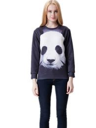 Pullover Casual Sweatshirt Sport Suit Women Hoody Ladies Tracksuits Brand Panda 3D Digital Printing Plus Size Hoodie