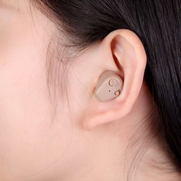 Wholesale Small Mini K Rechargeable Digital In Ear Hearing Aid Adjustable Best Sound Amplifier Tone Mini Pocket Hearing Aids care H14054