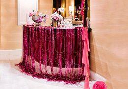 Metallic Sparkly tassel Laser rain curtain party wedding Backdrop decoration 9.5cmX100cm room birthday festive christmas bars decor supplies