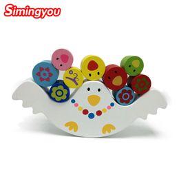 Wholesale Hot selling Montessori teaching babies early bird balance beam building blocks children s toys wooden educational toys