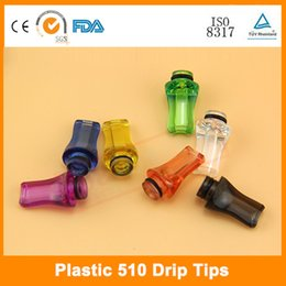 Flat corlorful 510 Drip Tips transparent plastic Mouthpiece for Justfog 1453 remove 510 series drip tips eCigarettes Atomizer
