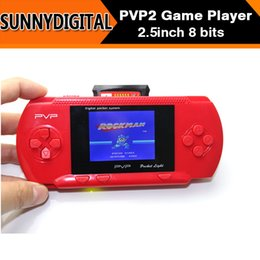 Wholesale DHL Inch bit Handheld game player New PVP2 Portable Video Game Console TFT LCD free game card PVP2